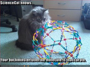 ScienceCat knows...  Your buckminsterfullerine molecule is inaccurate.