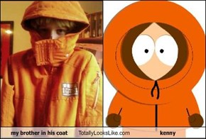 my brother in his coat Totally Looks Like kenny