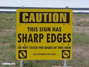 sharp edges fail