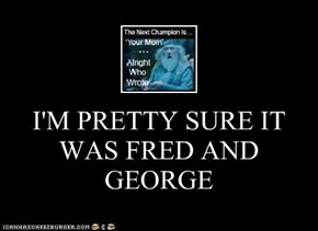 I'M PRETTY SURE IT WAS FRED AND GEORGE