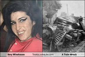 Amy Winehouse Totally Looks Like A Train Wreck