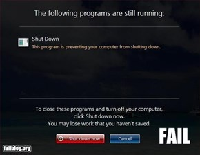 Shut Down Fail