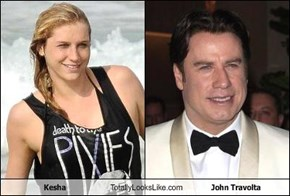 Kesha Totally Looks Like John Travolta