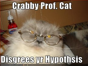 Crabby Prof. Cat  Disgrees yr Hypothsis