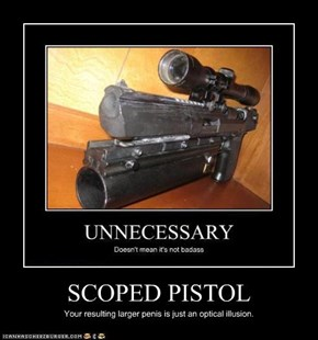 SCOPED PISTOL