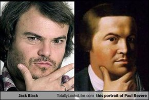Jack Black Totally Looks Like this portrait of Paul Revere