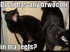 Do ai has any brwocoli  in ma teefs?