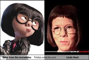 Edna from the incredibles Totally Looks Like Linda Hunt