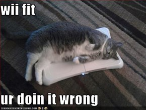 wii fit   ur doin it wrong