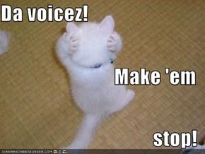 Da voicez! Make 'em stop!