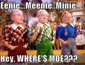 Eenie...Meenie..Minie..  Hey, WHERE'S MOE???