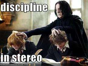 discipline  in stereo