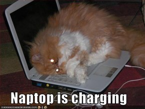 Naptop is charging