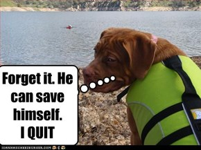 Forget it. He can save himself.  I QUIT