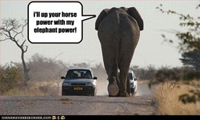 i'll up your horse power with my elephant power!