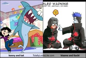 kenny and kat Totally Looks Like kisame and itachi