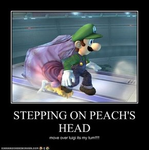 STEPPING ON PEACH'S HEAD