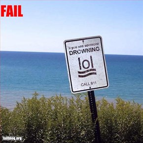 Drowning Sign Fail