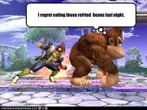 I regret eating those refried  beans last night.