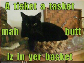 A  tisket  a  tasket   mah                         butt iz  in  yer  basket