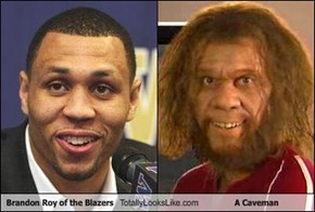 Brandon Roy of the Blazers Totally Looks Like A Caveman