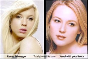Renee Zelwegger Totally Looks Like Jewel with good teeth
