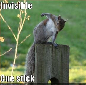 Invisible  Cue stick