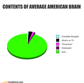 CONTENTS OF AVERAGE AMERICAN BRAIN