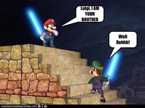 Luigi, I AM YOUR BROTHER