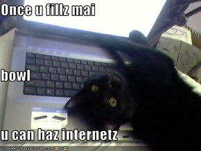 Once u fillz mai  bowl  u can haz internetz