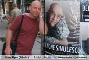Steve Flynn (Atheist) Totally Looks Like Benone Sinulescu (just Benone)