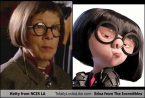 Hetty from NCIS LA Totally Looks Like Edna from The Incredibles