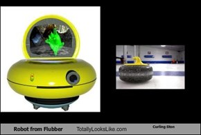Robot from Flubber Totally Looks Like Curling Ston