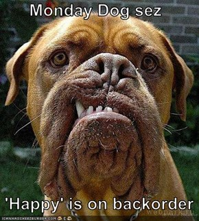 Monday Dog sez    'Happy' is on backorder