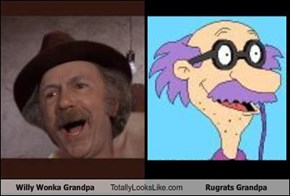 Willy Wonka Grandpa Totally Looks Like Rugrats Grandpa