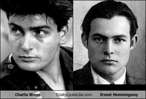 Charlie Sheen Totally Looks Like Ernest Hemmingway