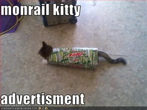 monrail kitty  advertisment