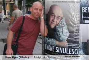 Steve Flynn (Atheist) Totally Looks Like Benone Sinulescu