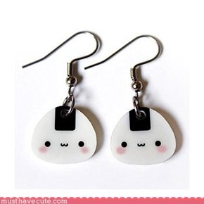 Kawaii Rice ball earrings