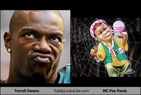 Terrell Owens Totally Looks Like MC Pee Pants