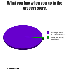 What you buy when you go to the grocery store.