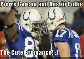 Pierre Garcon and Austin Collie  The Cute Bromance! :)