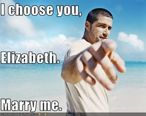 I choose you,  Elizabeth. Marry me.
