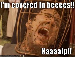 I'm covered in beeees!!  Haaaalp!!