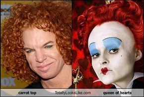 carrot top Totally Looks Like queen of hearts