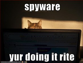 spyware     yur doing it rite