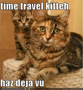 time travel kitteh  haz deja vu