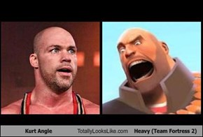 Kurt Angle Totally Looks Like Heavy (Team Fortress 2)