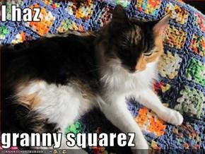 I haz  granny squarez