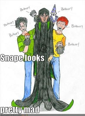 Snape looks pretty mad